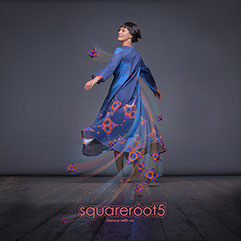 "Long avant-garde dress ""Octahedron"" with a geometric eccentric design. Geometrical ascetic maxi dress for dance, by Squareroot5 wear"